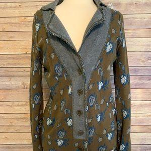 Blazer style sweater HWR monogram Anthropologie